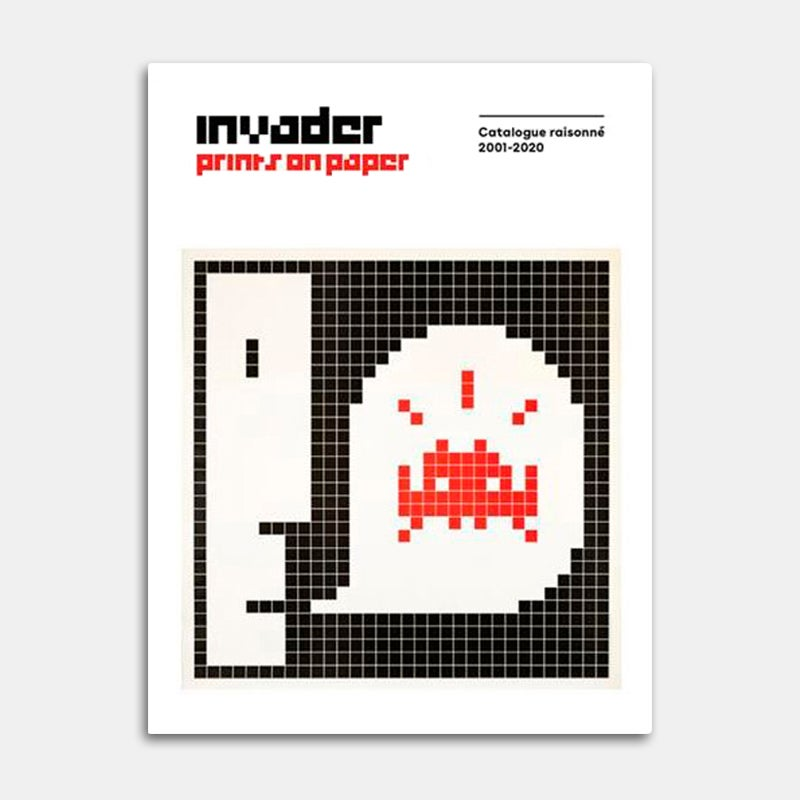 """Image of Invader """"Prints on Paper"""""""