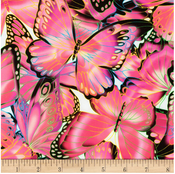 Image of Butterflies Pink Shade 30cm