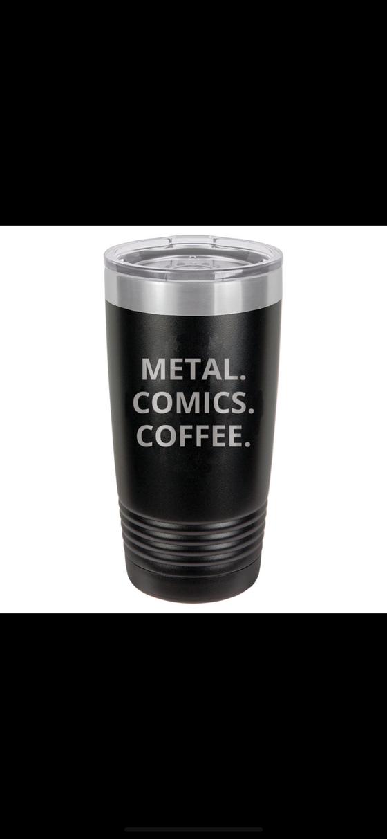 Image of METAL COMICS COFFEE TUMBLER
