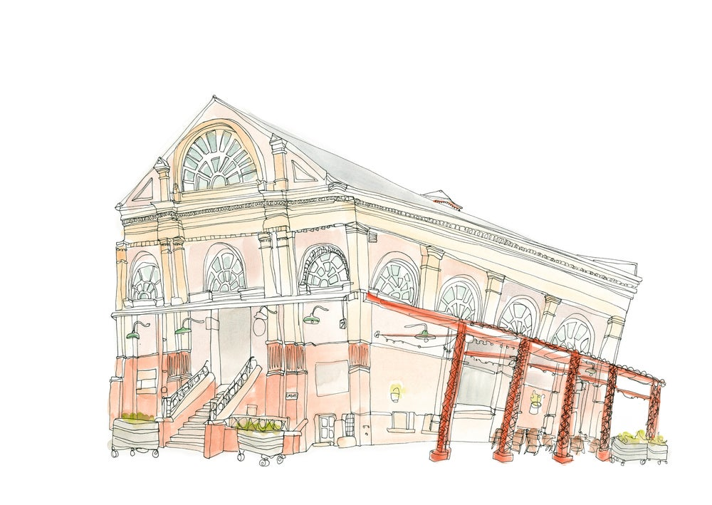 Image of Altrincham Market Giclee Print