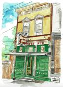 Image of Murphy's Pub watercolor Print
