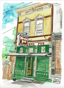 Image of Murphy's Pub watercolor Print