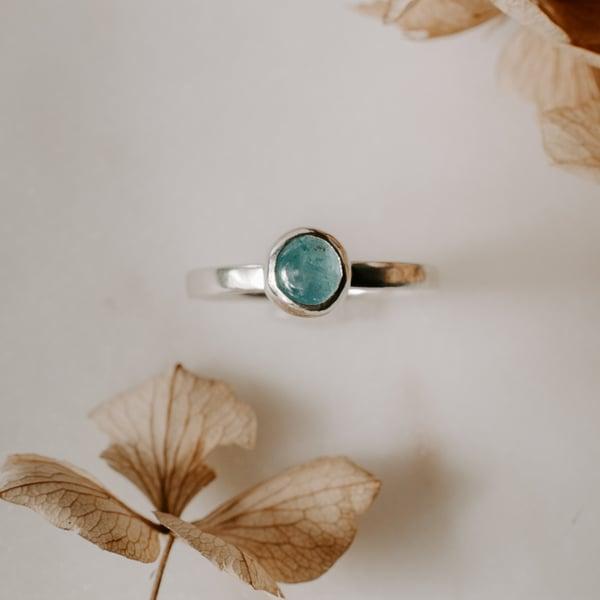 Image of Round Aquamarine Ring