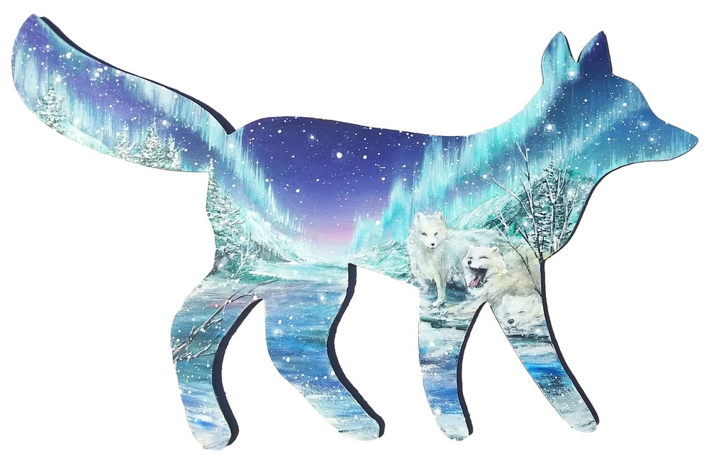 """Image of """"Arctic Foxes"""" Original Painting"""