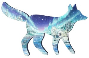 "Image of ""Arctic Foxes"" Original Painting"