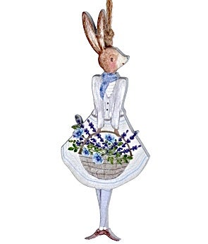 Image of Gisela Graham Girl Bunny with Lavender Wood Decoration