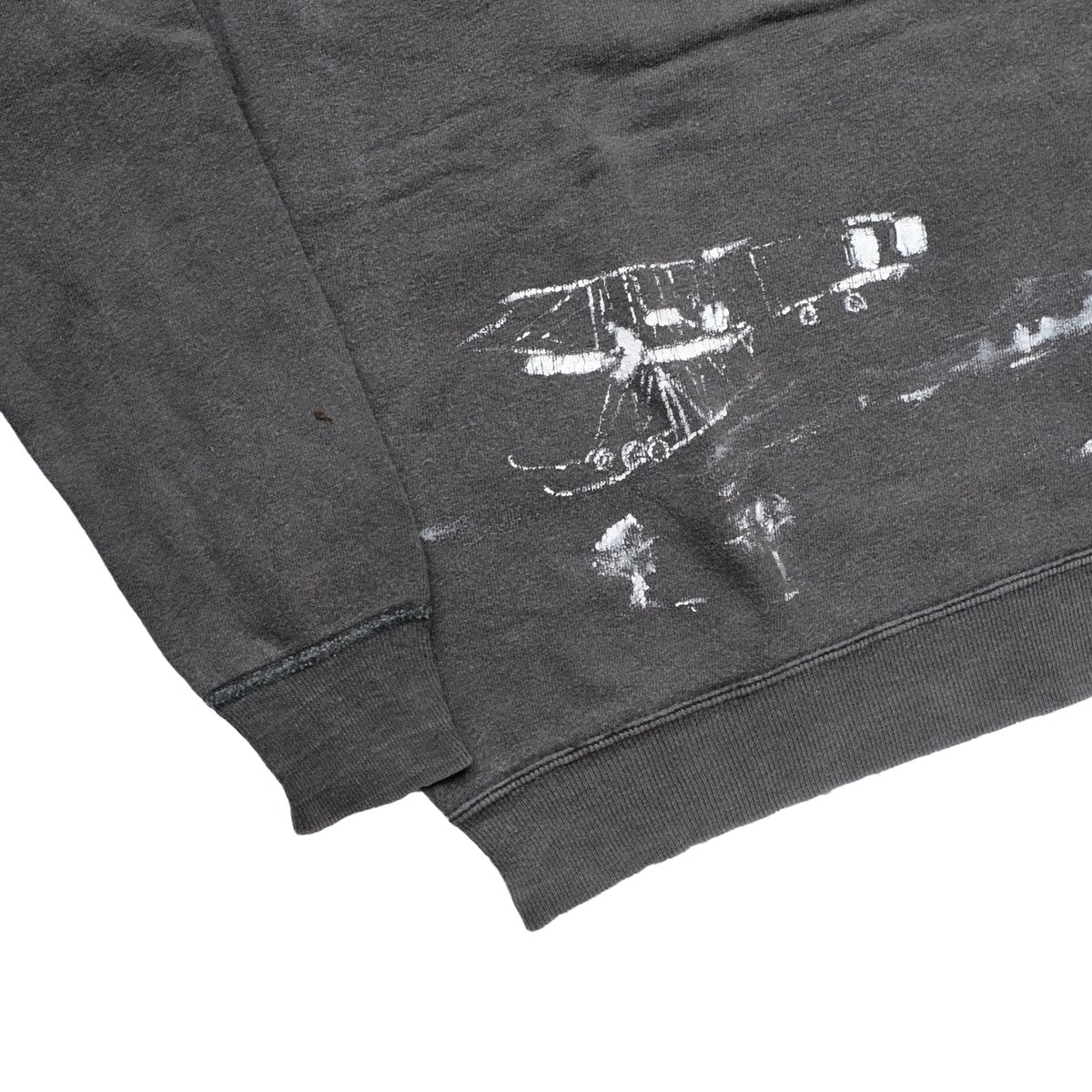 Image of Vintage 1960's Faded Black Sweatshirt with Paint/Images