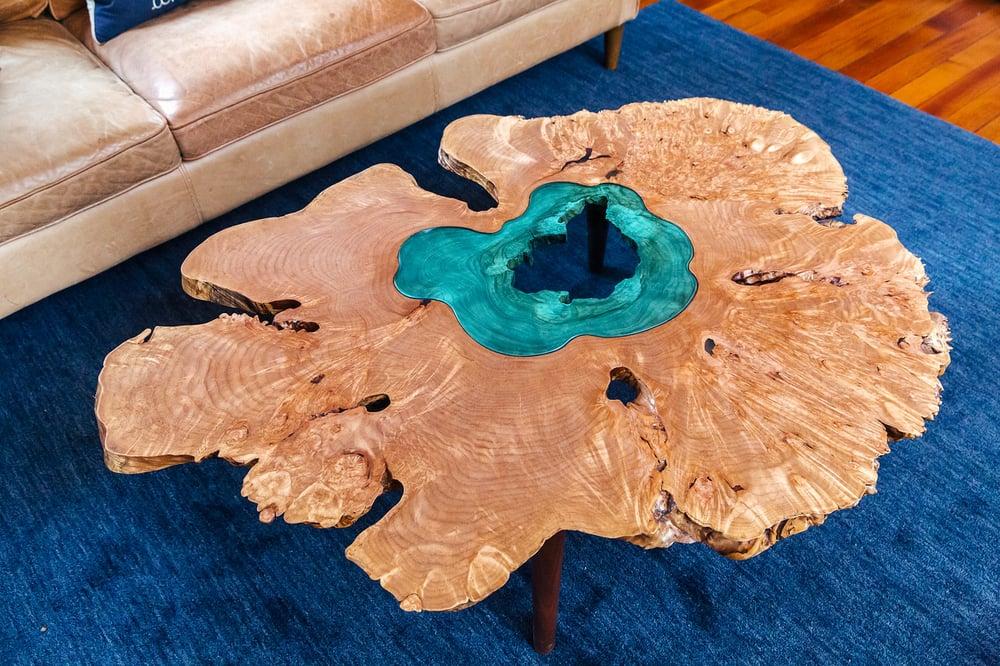 Image of lake coffee table
