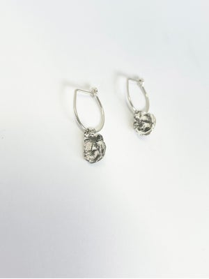 "Image of ""&"" Medallion hoop earrings in solid 9ct Gold"