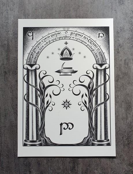 Image of Doors of Durin print