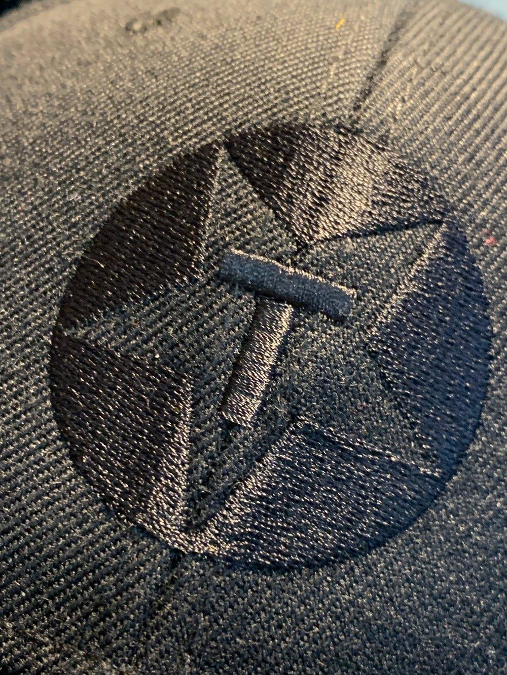 Black on black Embroidered Toybox Logo Champion Sweatshirt