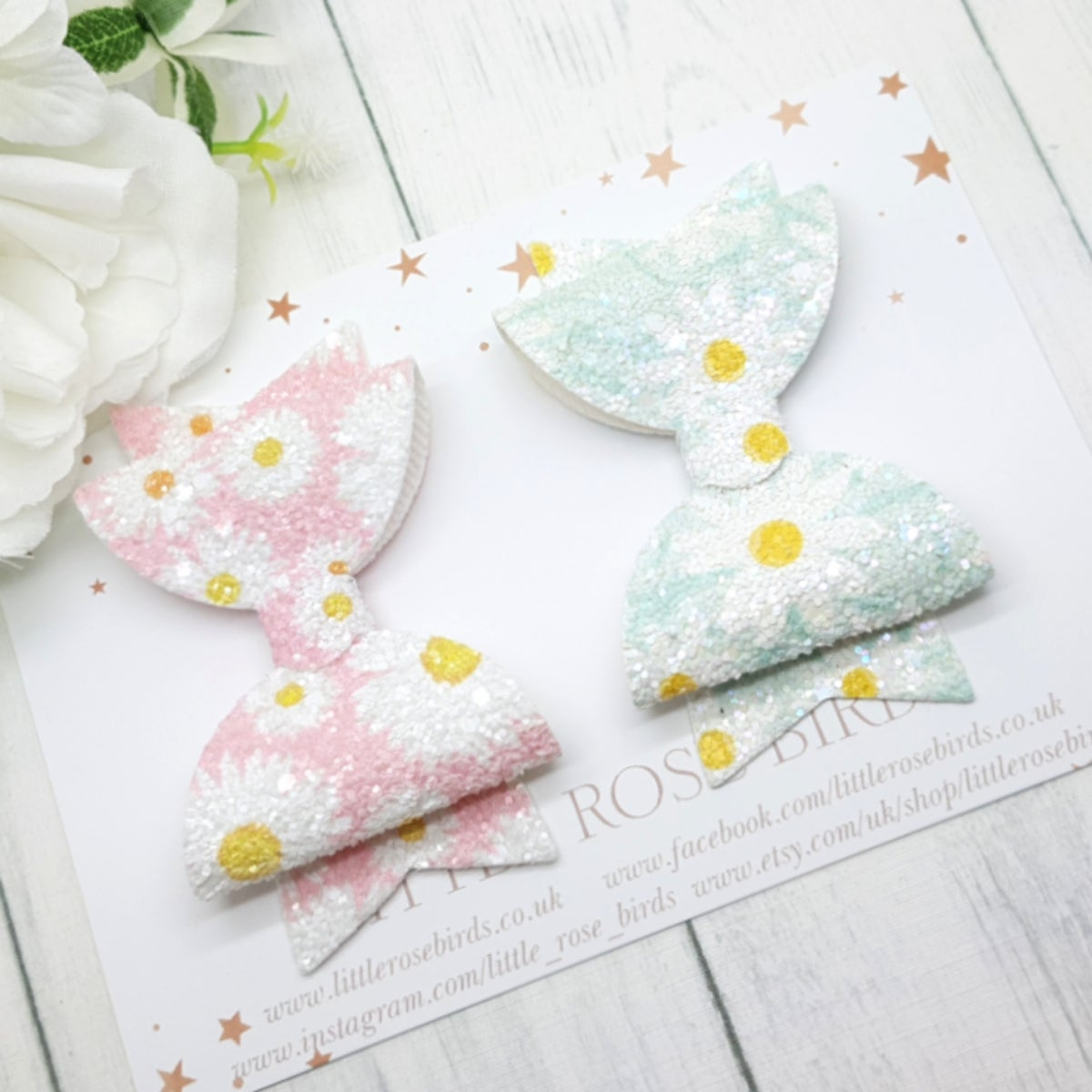 Image of Set of 2 Daisy Bows