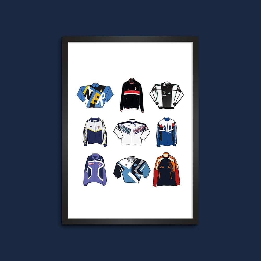 Italian 90s track jackets from Serie A