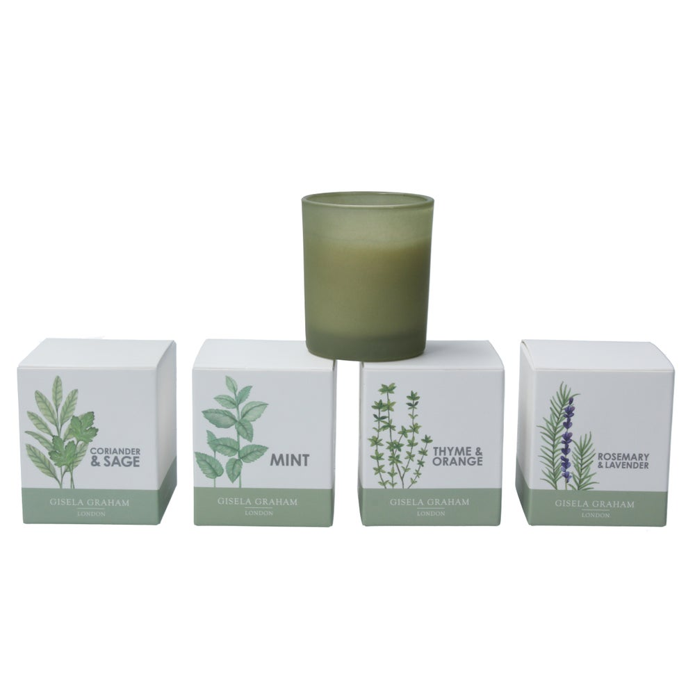 Image of Gisela Graham Herb Scented votive Candle in 4 Fragrances