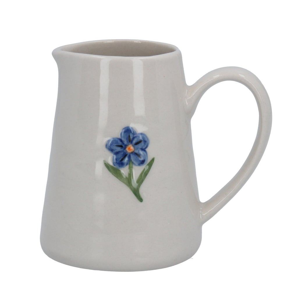 Image of Gisela Graham Forget-Me-Not Mini Ceramic Jug