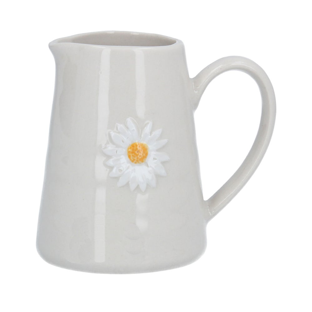 Image of Gisela Graham Daisy Mini Ceramic Jug
