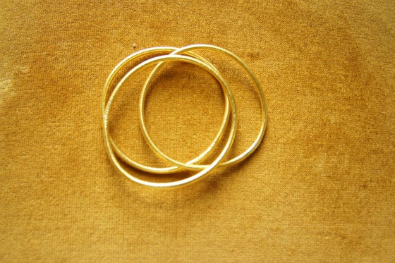 Image of Gold Prayer Bangles -Thin (set of 3)