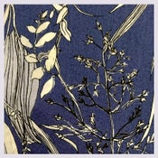 Image of Tissu: Les herbes folles all bleue