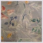 Image of Tissu: vintage floral gray paint paper