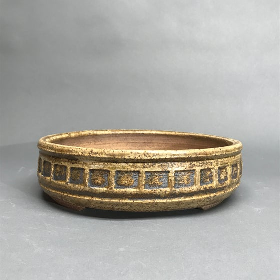 Image of 336 Banded Round with Ash Glaze