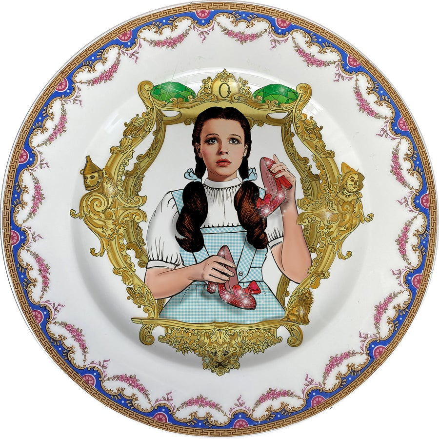 Image of The Wizard of OZ - Vintage fine china Plate - #0750