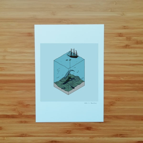 Image of Elusive Whale - SIGNED PRINT
