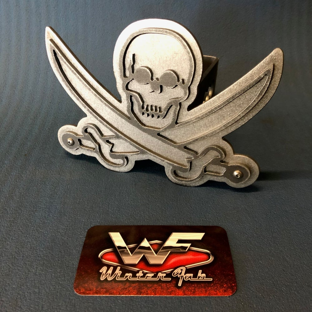 Image of Pirate - Jolly Roger - Two Layer Hitch Cover