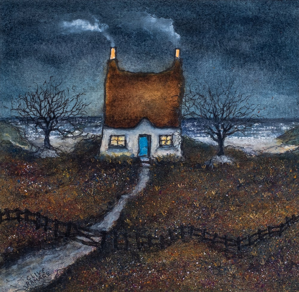 Image of Little Cottage By The Sea (Twilight)