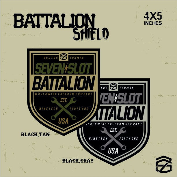 Image of Battalion Shield Decal