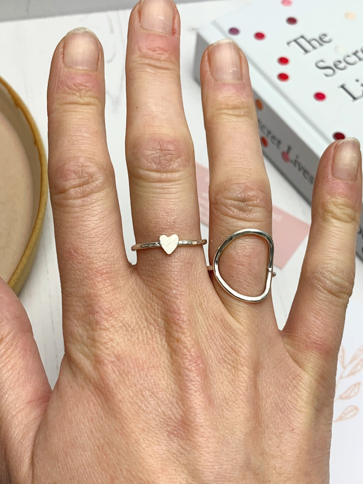 Image of Heart stacking ring