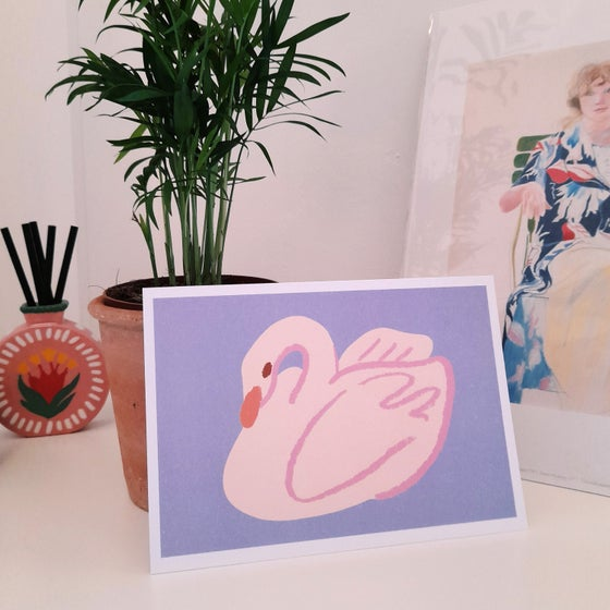 Image of Pink Swan A5 Art Print
