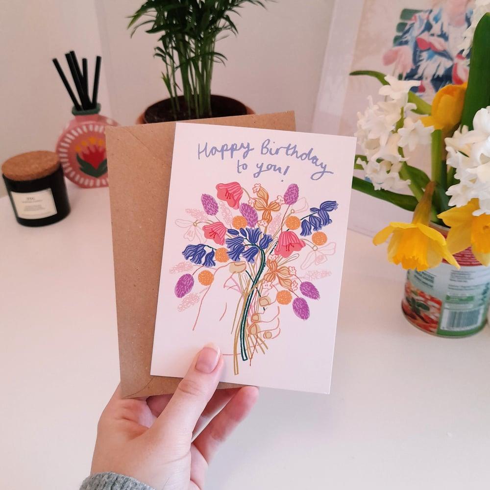 Image of Birthday Flowers Card