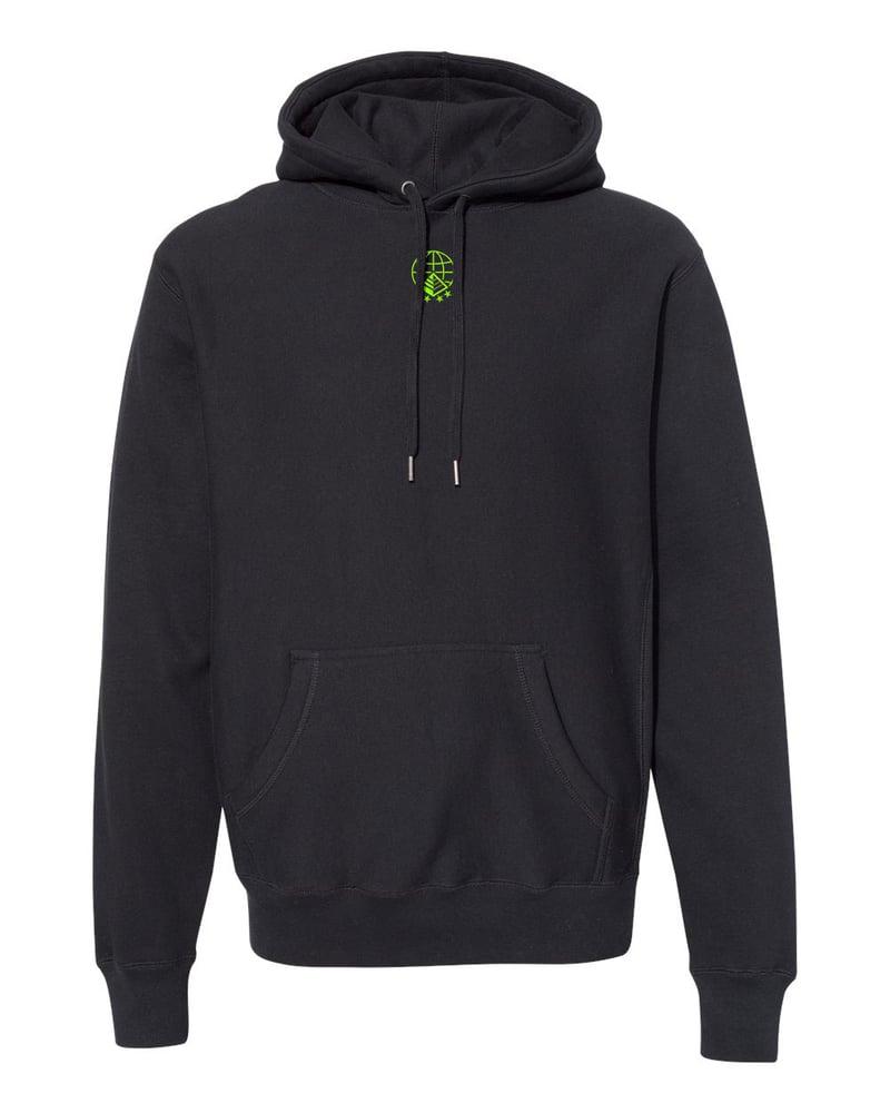 Image of Global Association Hoodie in Black/Slime
