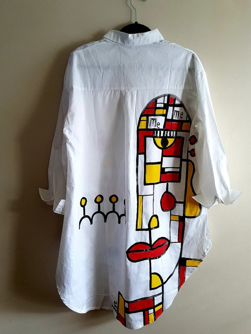Image of painted shirt...mondrian