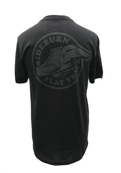 Image of Flat Track T-shirt - Black on Black