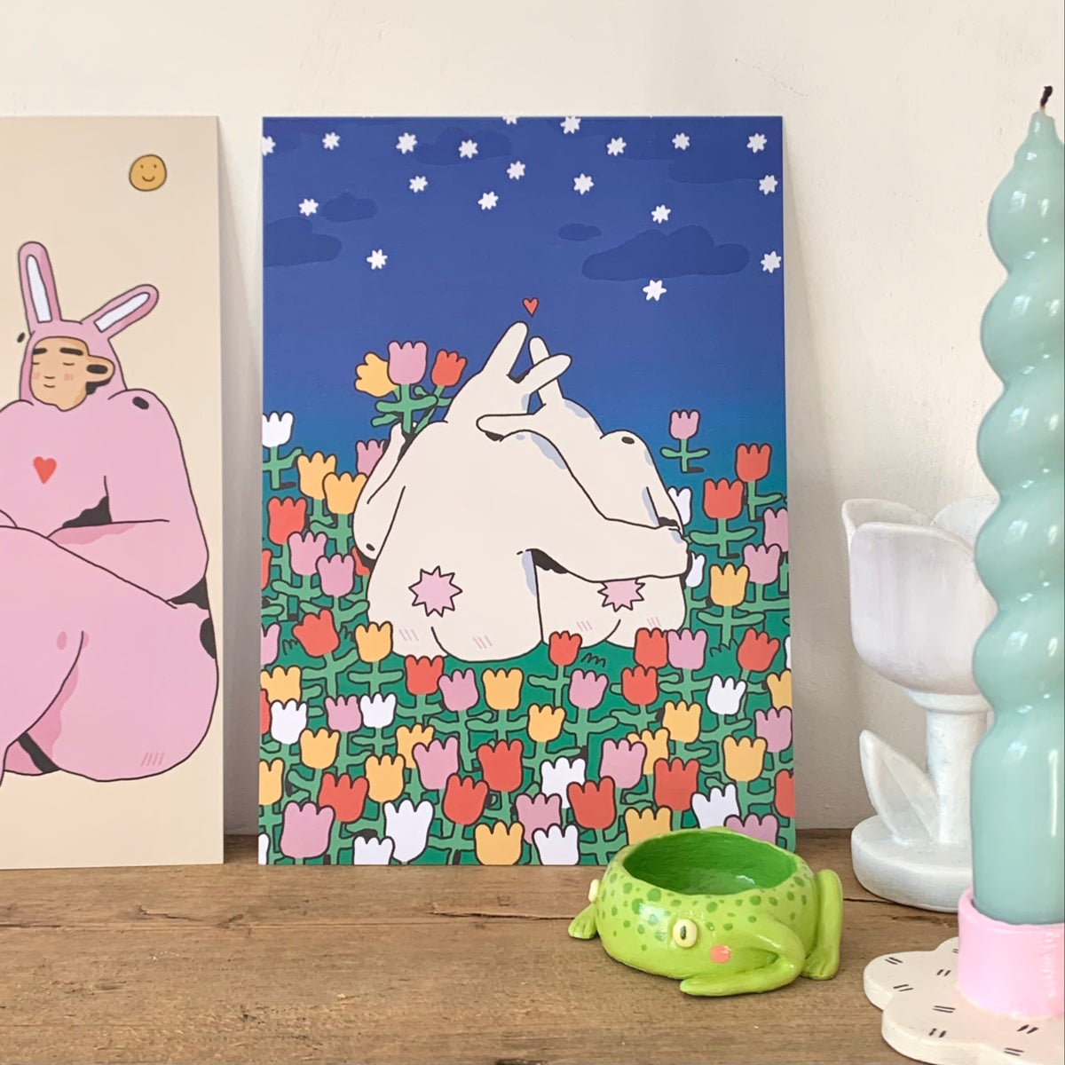 New! Tulip bunnies - A5 print
