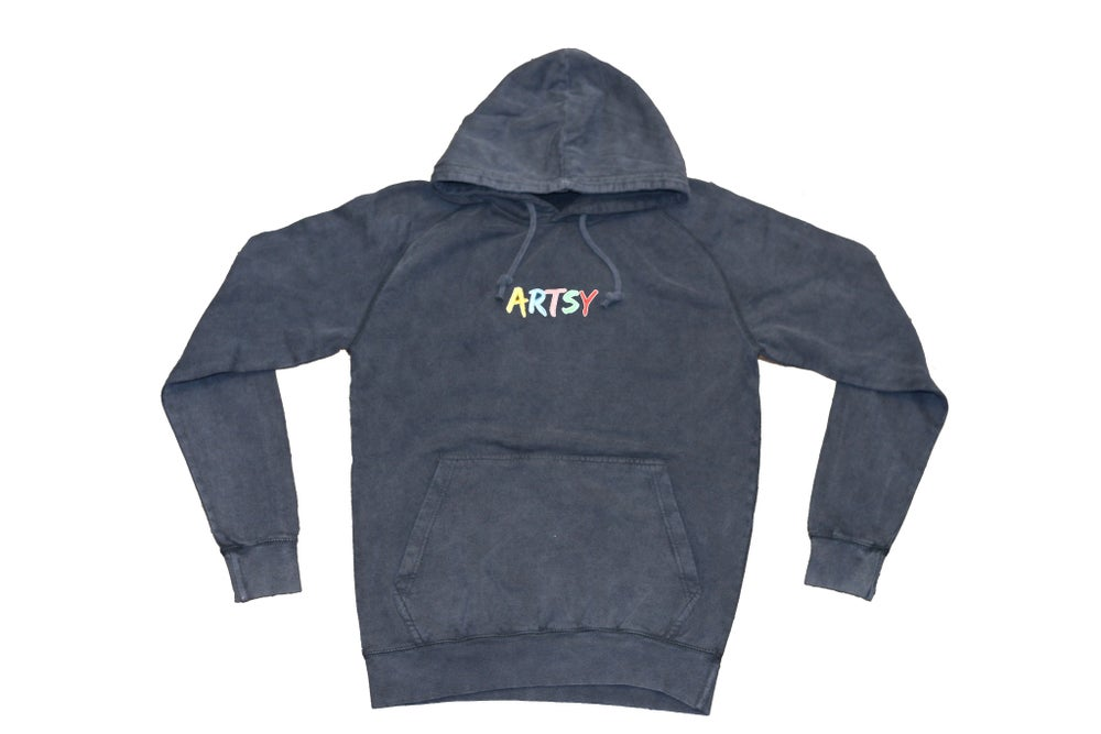 Image of Artsy Washed Hoodie Pullover