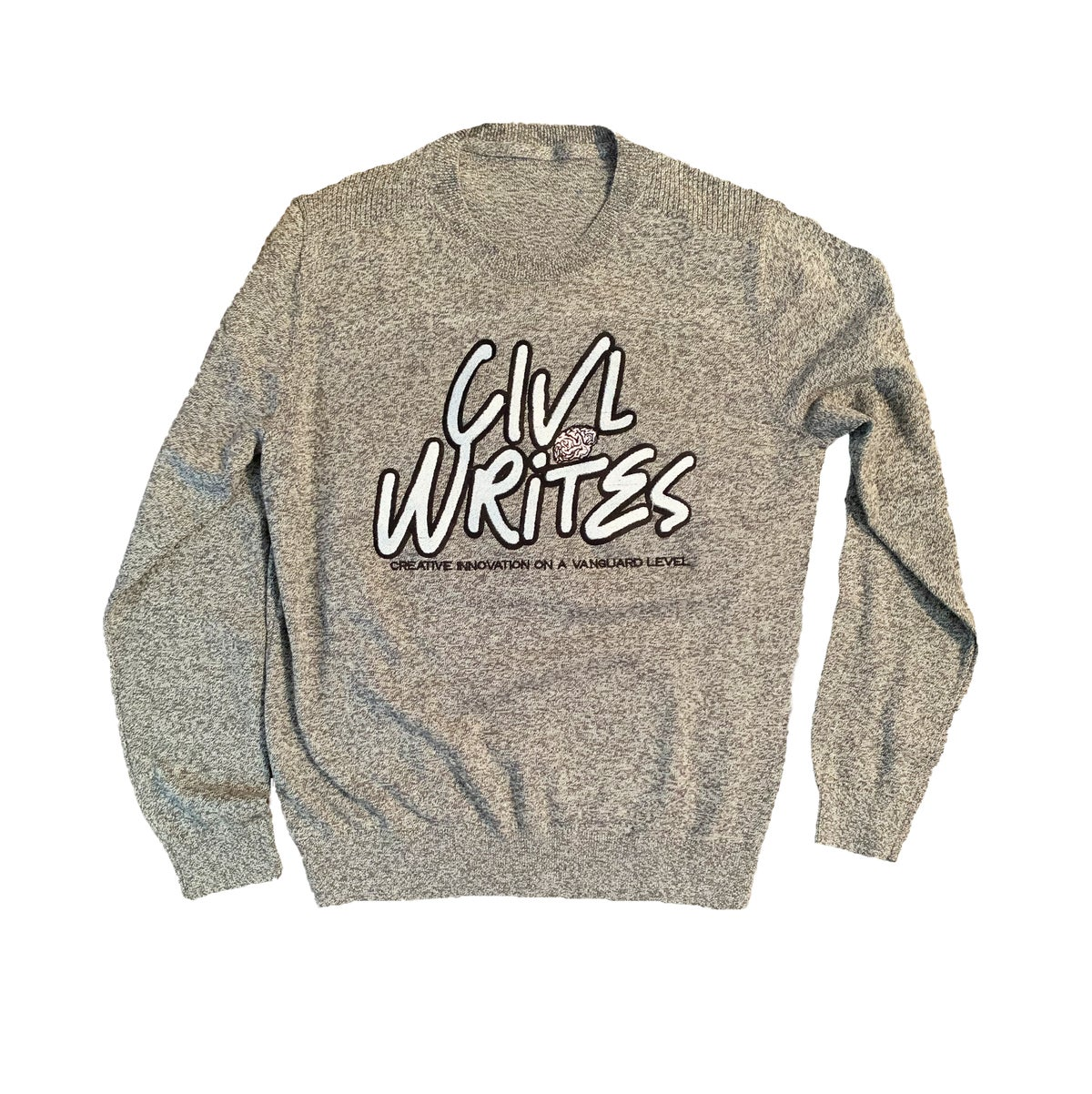 "Image of The ""CiVL Writes"" Crew Knit Sweater"