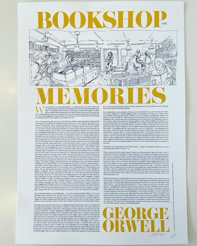 """Image of """"Bookshop Memories"""" Print"""