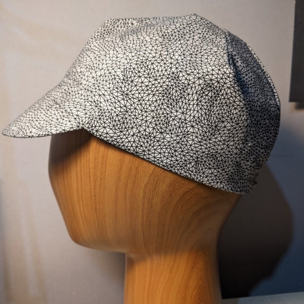 Image of Cotton cycling cap - Contours