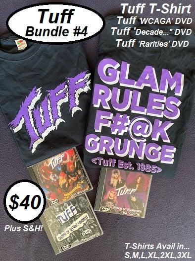 """Image of Tuff Bundle #4, Tuff Tee, Tuff 'WCAGA' DVD, Tuff """"Decade.."""" DVD & Tuff """"Rarities"""" DVD"""