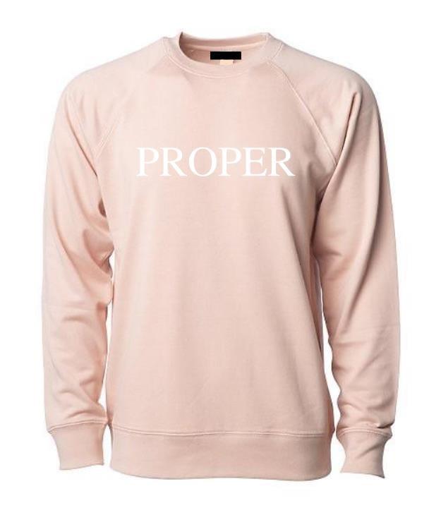 Image of Proper Crewneck - Rosé Pink