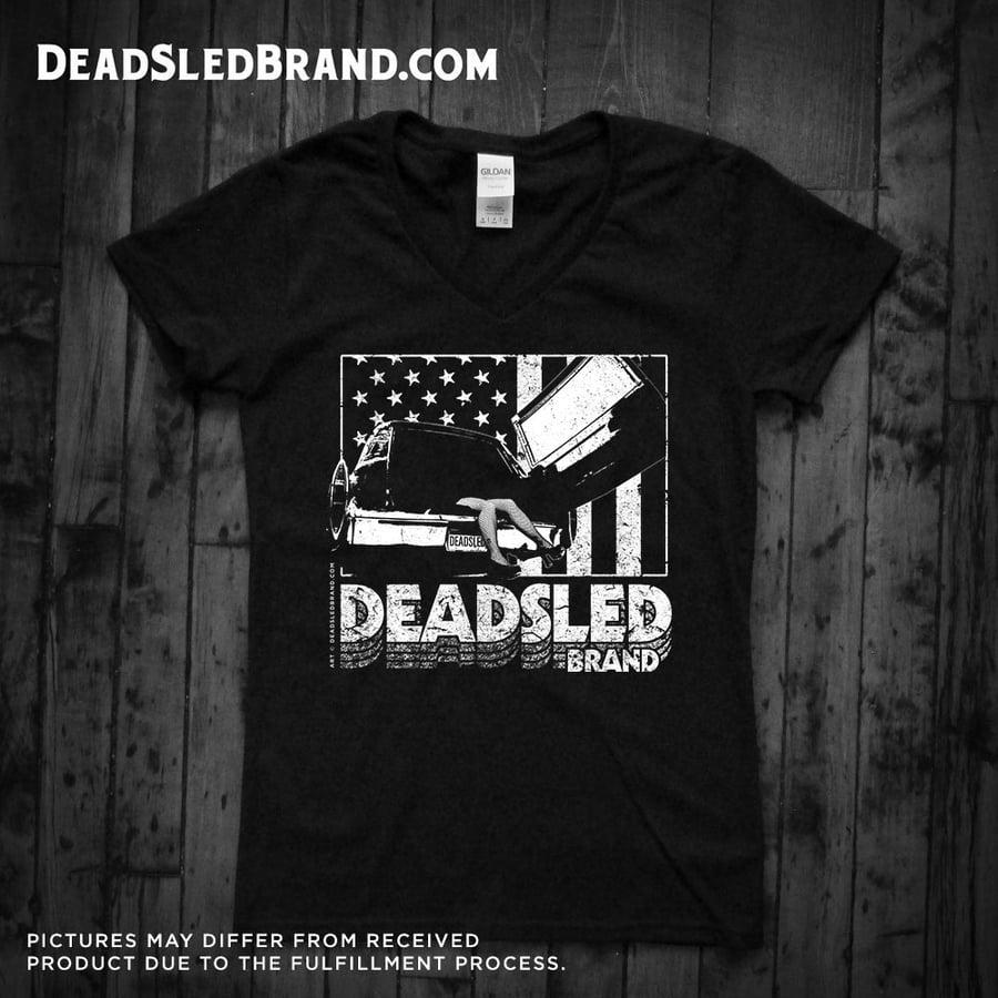 Image of Dead Sled classic Grindhouse Short Sleeve V-Neck T-Shirt