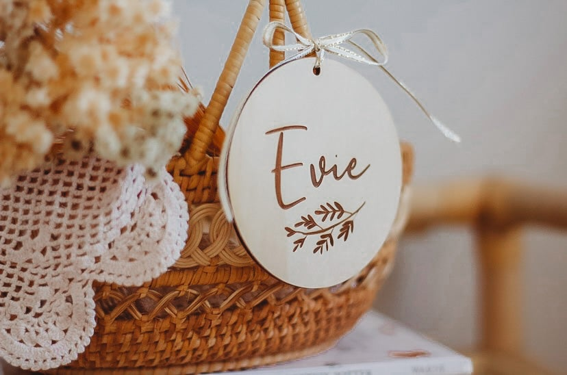 Image of EASTER | Etched round tag