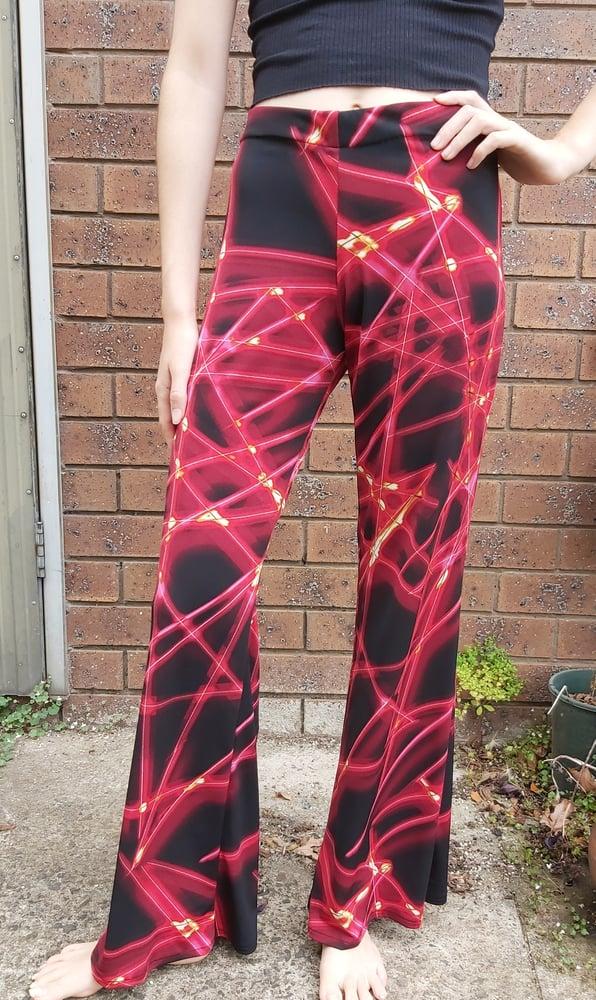 Image of KAT pants Black/red lycra print