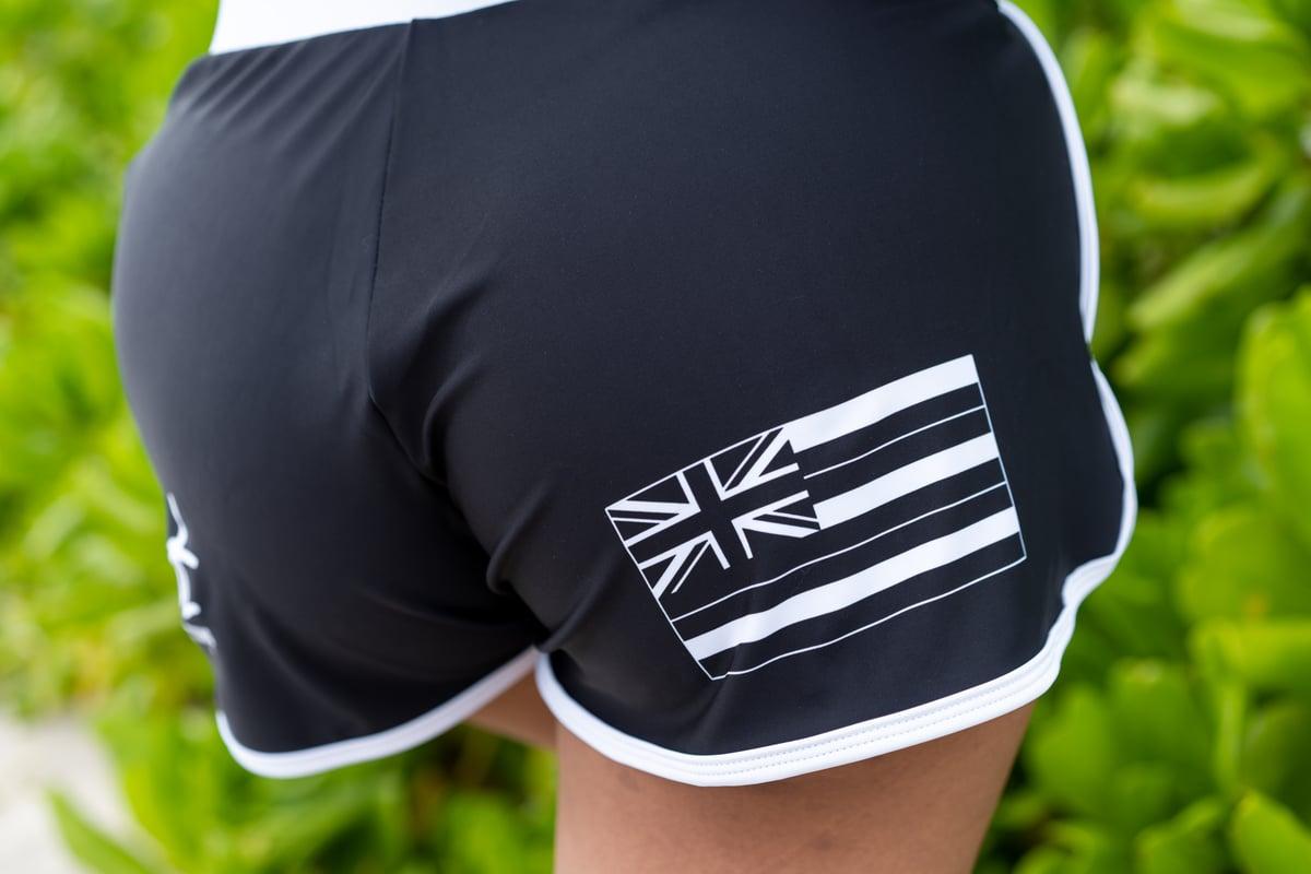 Aloha Island Black Ladies Compression Shorts