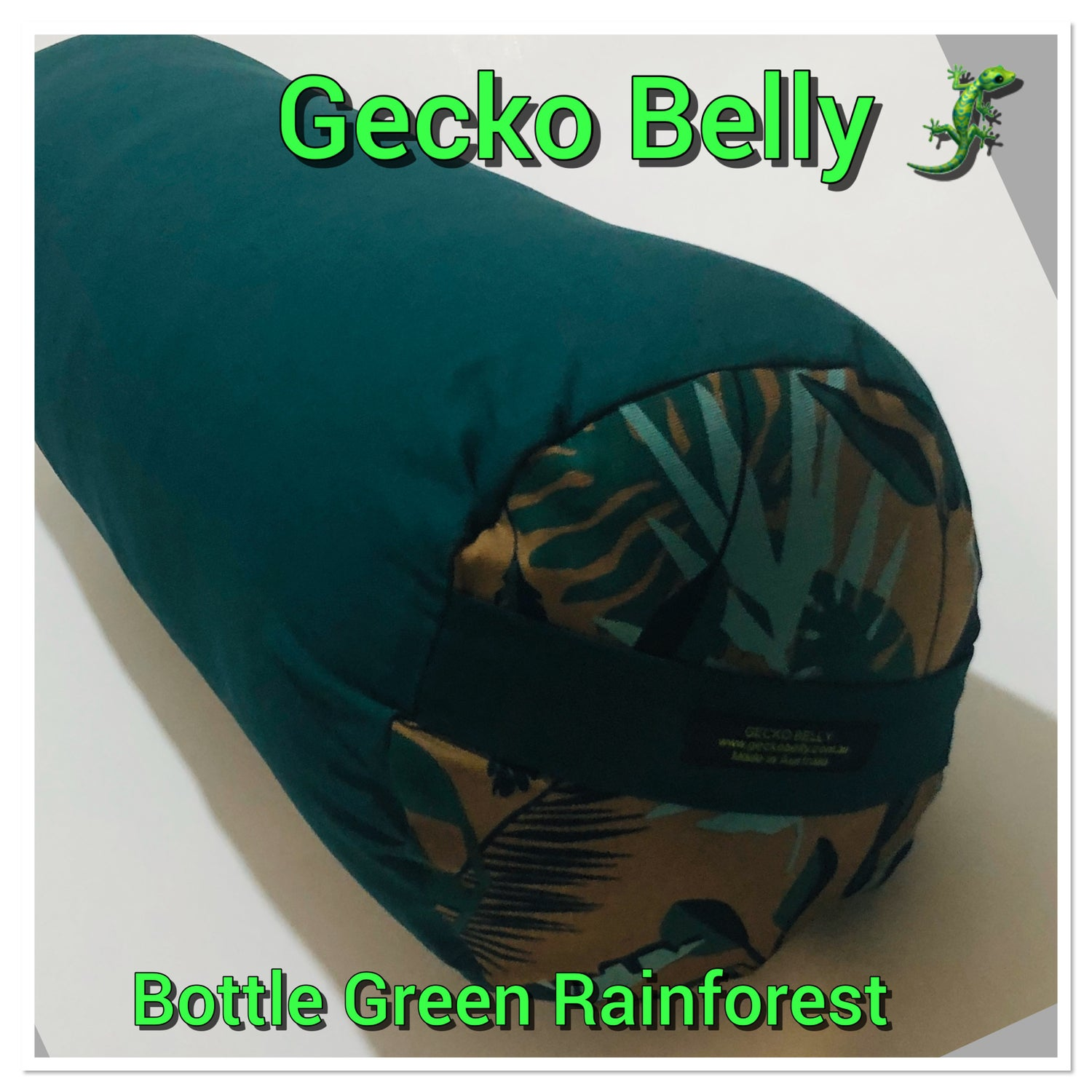 Image of Bottle Green with Rainforest Bolster