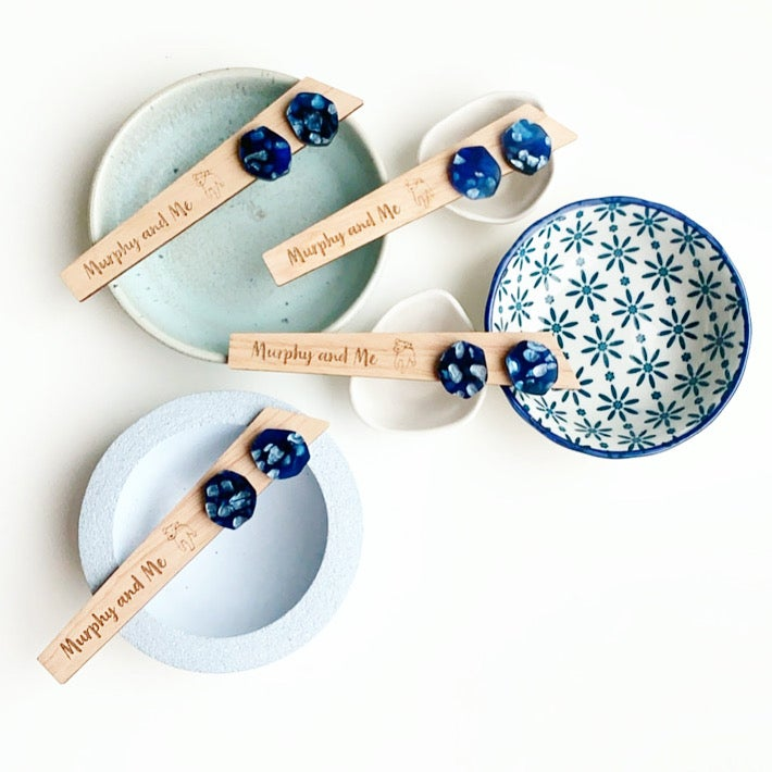 Image of Pearly Navy Studs
