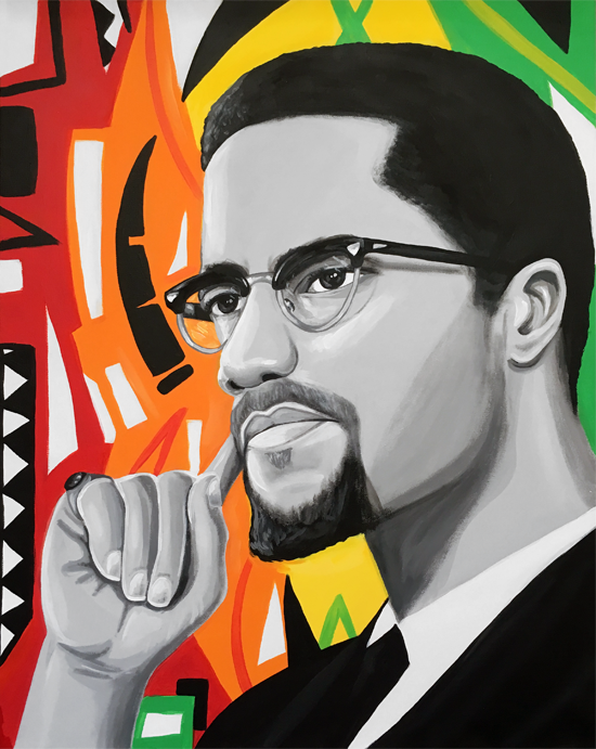 Image of Thoughts of Malcolm (Acrylic Painting)