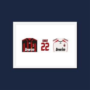 Kaka AC Milan Shirt A5 Postcard Print